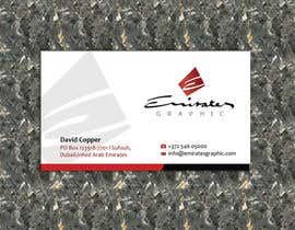 "#26 untuk Design some Business Cards for my company ""Emirates Graphic"" oleh allynutz"