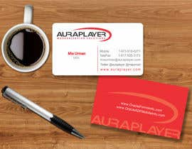 #32 for Design some Business Cards for AuraPlayer by mgliviu