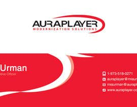 #29 for Design some Business Cards for AuraPlayer by i4consul