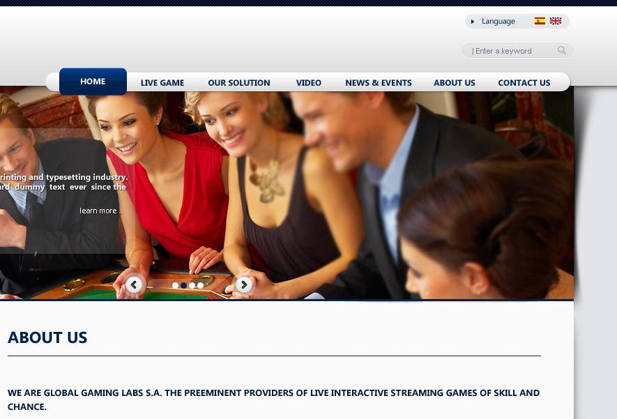 Kilpailutyö #32 kilpailussa Website Design for A Leading Live Casino Software Provider