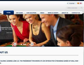 nº 32 pour Website Design for A Leading Live Casino Software Provider par emdes19