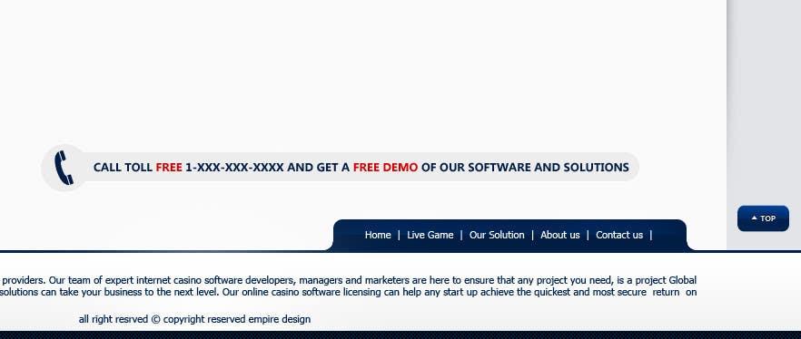 Kilpailutyö #34 kilpailussa Website Design for A Leading Live Casino Software Provider