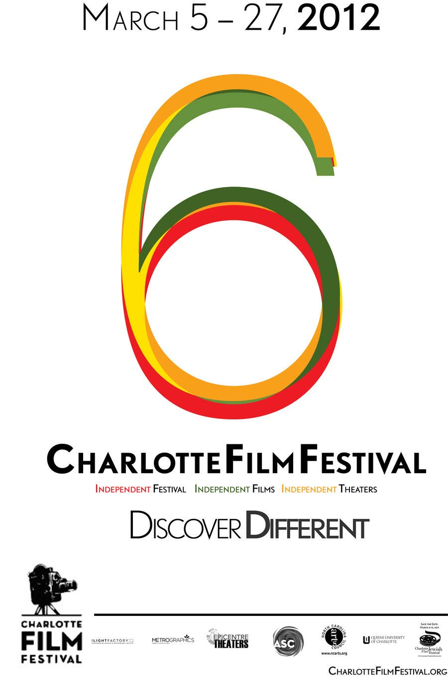 Inscrição nº 86 do Concurso para Design materials for the Charlotte International Film Festival