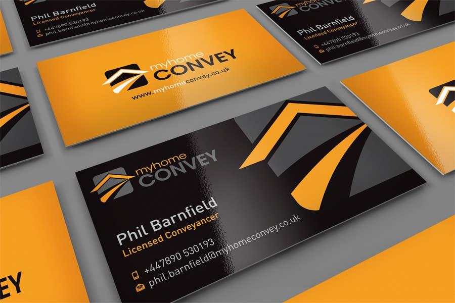 Penyertaan Peraduan #43 untuk Business Card Design for Real Estate Lawyer with revision of logo.