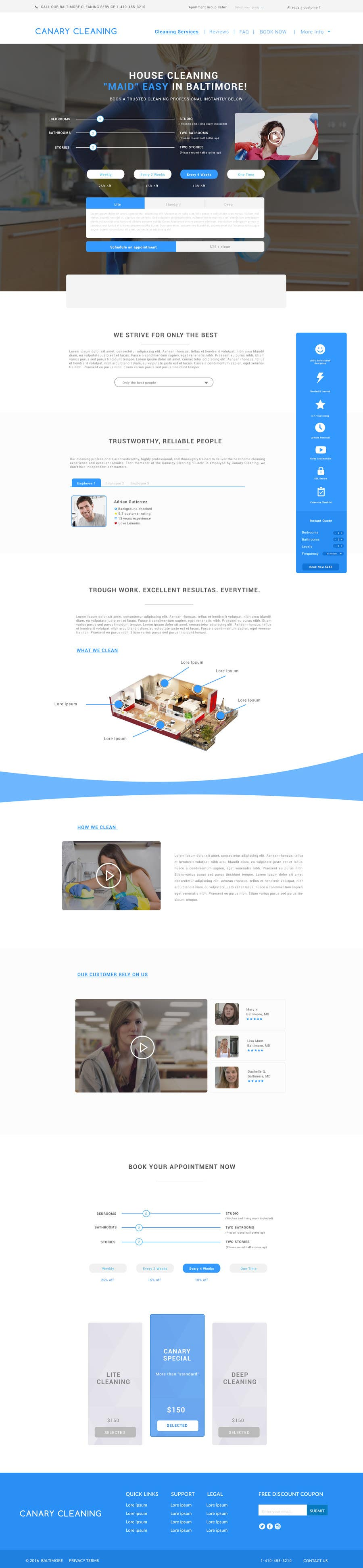 design a website mockup for a new cleaning service lancer 6 for design a website mockup for a new cleaning service by ohmyfunsite