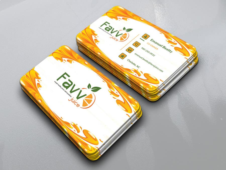 Entry #40 by Nlimon for FAVV Juice Business Cards | Freelancer