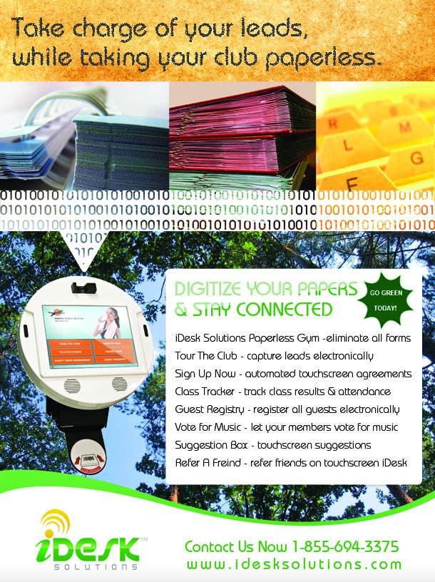 Penyertaan Peraduan #41 untuk Advertisement Design for iDesk Solutions