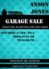 "Contest Entry #9 for Design an Advertisement for Anson Jones ES ""Garage Sale"""
