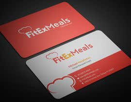 #87 for Design a Business Card for FitEx Meals by adarshdk