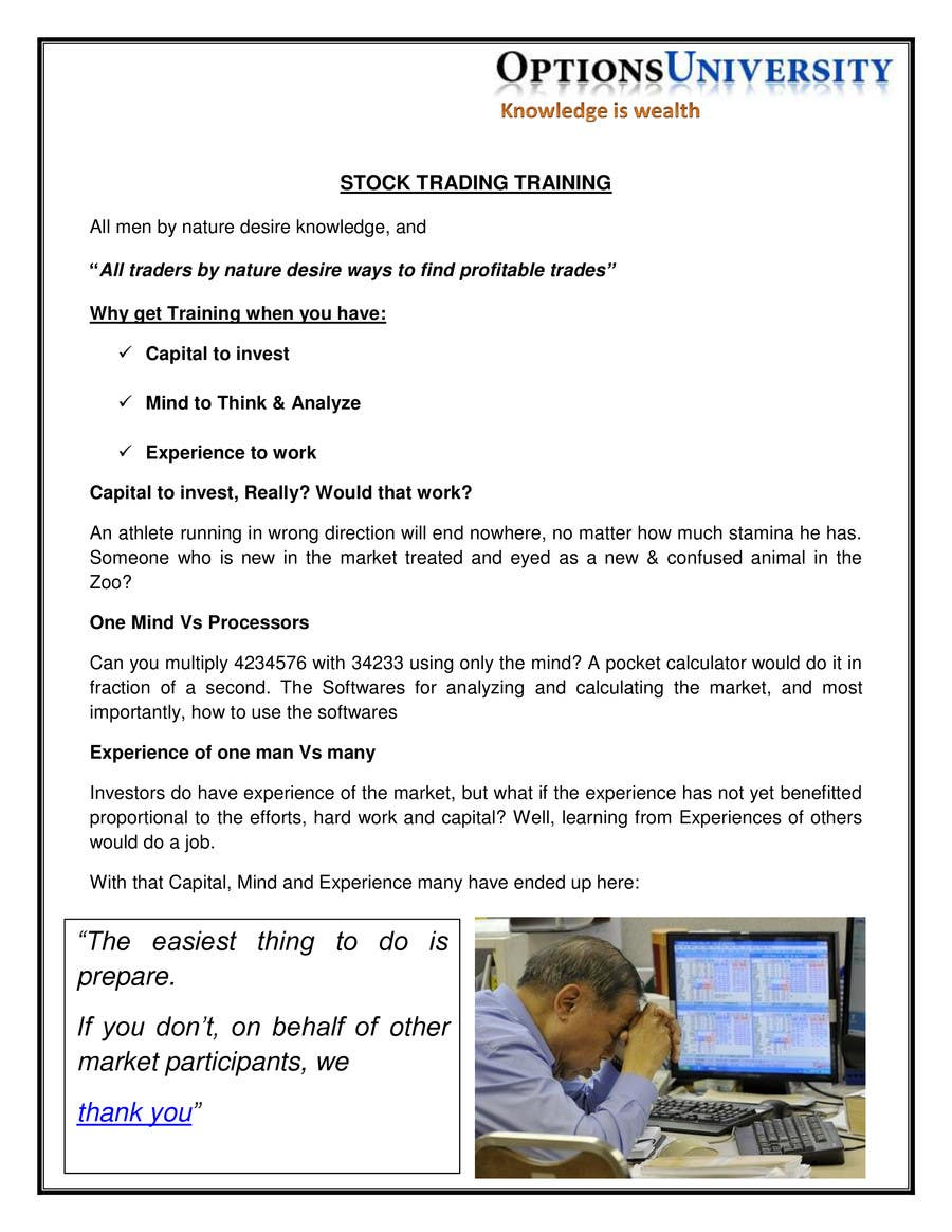 Entry 3 By Iftikharanjum For Write A Sales Letter For Stock Trading