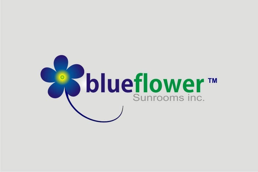 #195 for Logo Design for Blueflower TM Sunrooms Inc.  Windscreen/Sunrooms screen reduces 80% wind on deck by asifjano