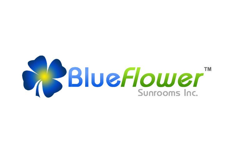 Конкурсная заявка №399 для Logo Design for Blueflower TM Sunrooms Inc.  Windscreen/Sunrooms screen reduces 80% wind on deck