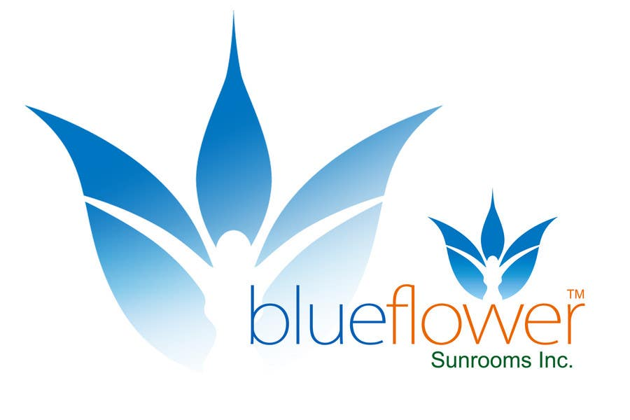Конкурсная заявка №479 для Logo Design for Blueflower TM Sunrooms Inc.  Windscreen/Sunrooms screen reduces 80% wind on deck