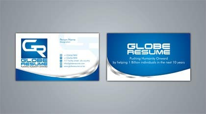 #73 for Design Awesome Business Cards for Globe Resume af nomi2009
