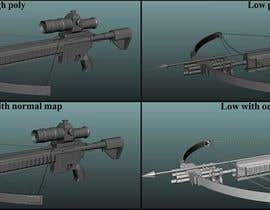 Nro 19 kilpailuun Do some low poly mediaval weapon 3D models for video games käyttäjältä dreamboxcreation
