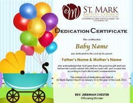#21 For Baby Dedication Certificate By Margeletteb
