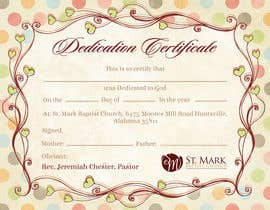 #20 For Baby Dedication Certificate By Anatomicana