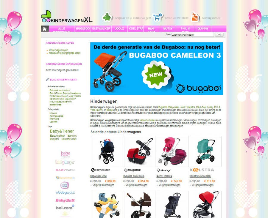 Bài tham dự cuộc thi #11 cho Design a background image for a stroller comparison site