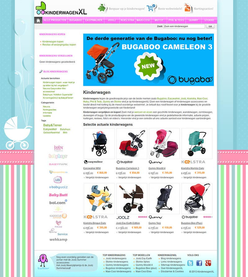 Bài tham dự cuộc thi #7 cho Design a background image for a stroller comparison site