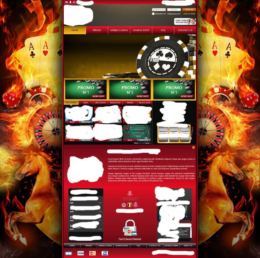 Background for casino website için 28 numaralı Yarışma Girdisi
