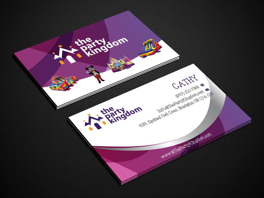 Entry #7 by amamun4567 for Design some Business Cards for my Bouncy ...
