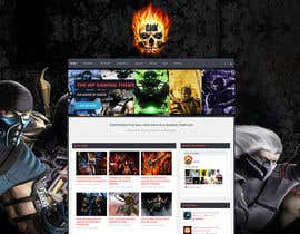 #5 for Design a Homepage Mockup for video game website af djtriptronick