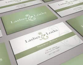 nº 10 pour Design some Business Cards for eyelash / hair extensions par sashadesigns