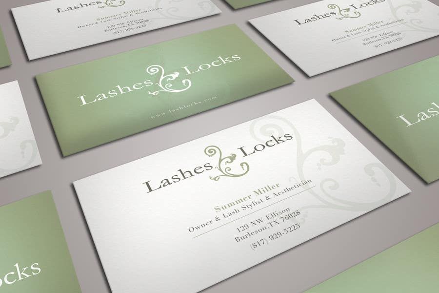 Proposition n°18 du concours Design some Business Cards for eyelash / hair extensions