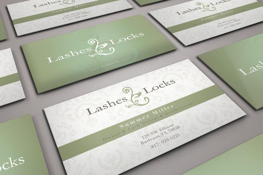 Proposition n°25 du concours Design some Business Cards for eyelash / hair extensions