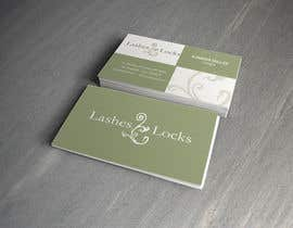 #22 untuk Design some Business Cards for eyelash / hair extensions oleh Silverlyte