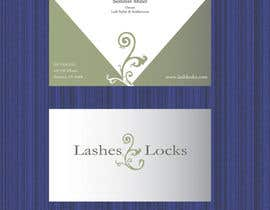 #32 for Design some Business Cards for eyelash / hair extensions by Vishapazn