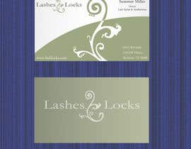 #33 para Design some Business Cards for eyelash / hair extensions por Vishapazn