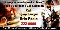 Graphic Design Kilpailutyö #40 kilpailuun Design a billboard for Injury Attorney Eric Posin