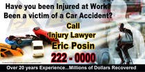 Graphic Design Contest Entry #41 for Design a billboard for Injury Attorney Eric Posin