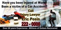 Graphic Design Kilpailutyö #41 kilpailuun Design a billboard for Injury Attorney Eric Posin