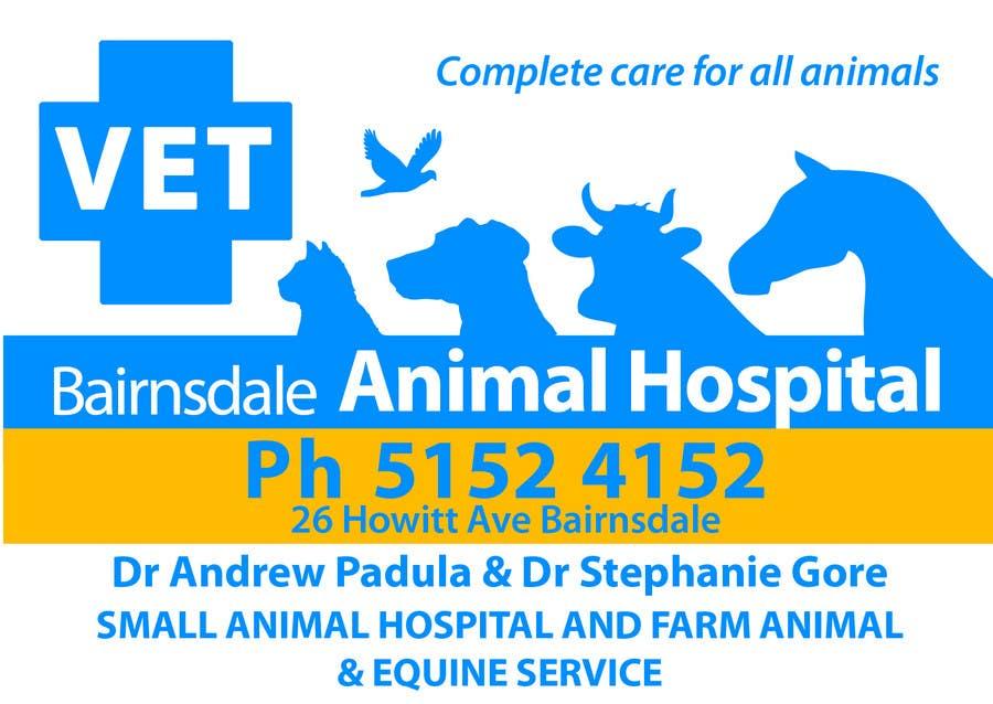 Inscrição nº 41 do Concurso para Graphic Design for Bairnsdale Animal Hospital