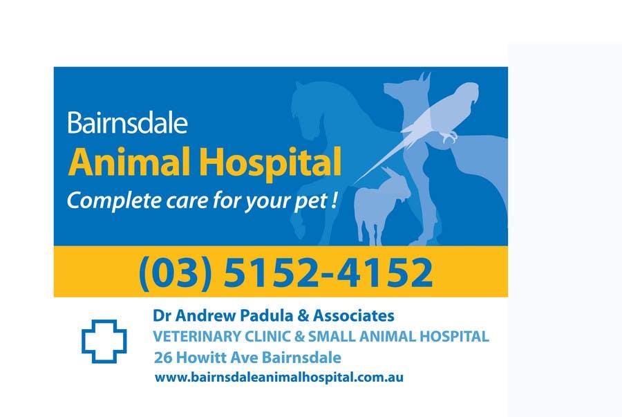 Inscrição nº 12 do Concurso para Graphic Design for Bairnsdale Animal Hospital