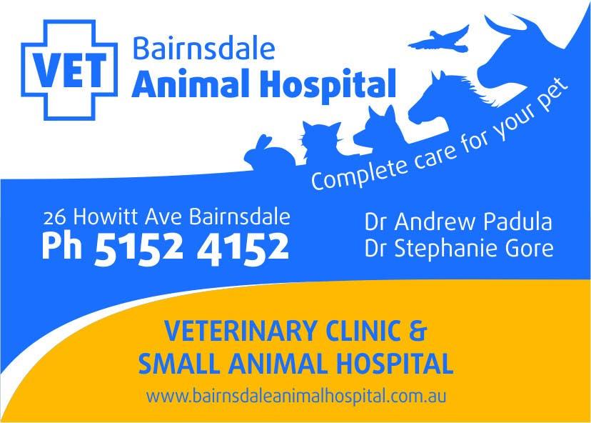 Inscrição nº 39 do Concurso para Graphic Design for Bairnsdale Animal Hospital
