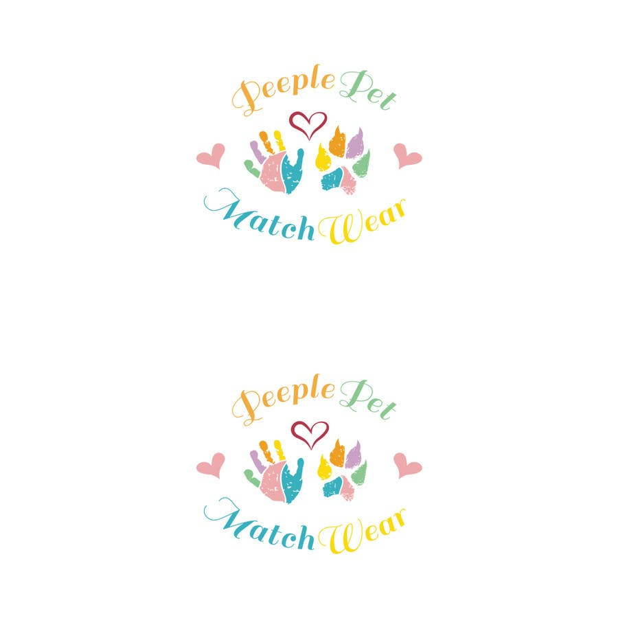 Inscrição nº                                         13                                      do Concurso para                                         Create custom Logo with my toddler hand print and dog paw print in colors with heart and font of letters