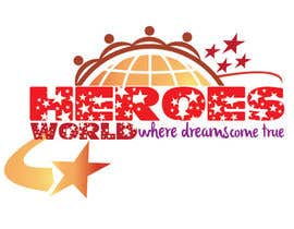 #53 para Design a Logo for HEROES WORLD por hammadraja