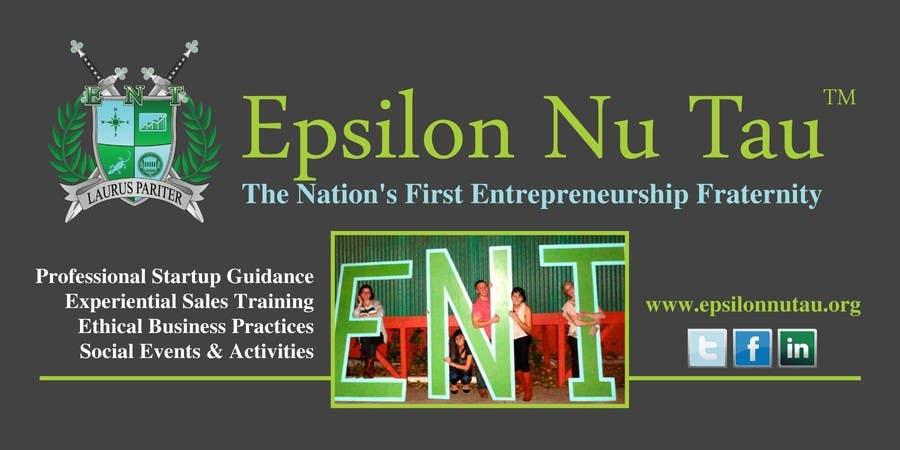 Kilpailutyö #3 kilpailussa Design a Epsilon Nu Tau Fraternity Table Banner