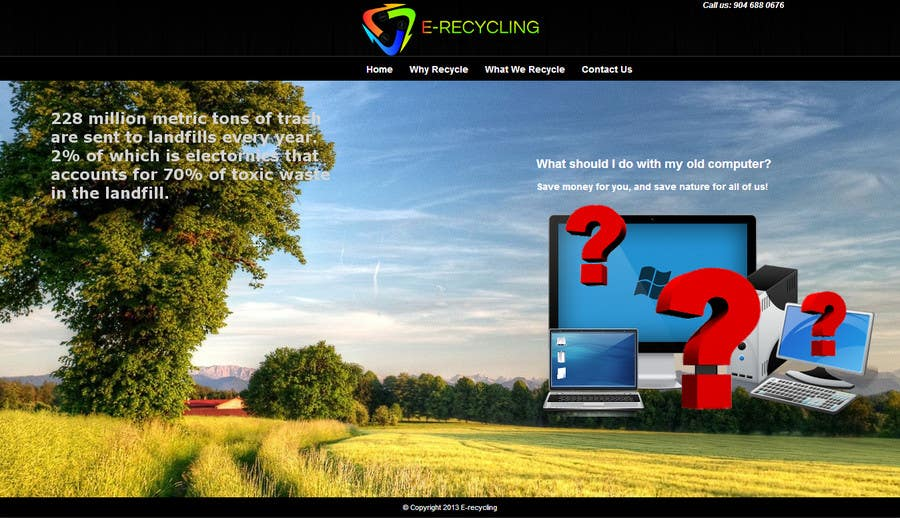 #5 for E recycling company website by cosminici27