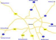 Graphic Design Konkurrenceindlæg #2 for Map Design