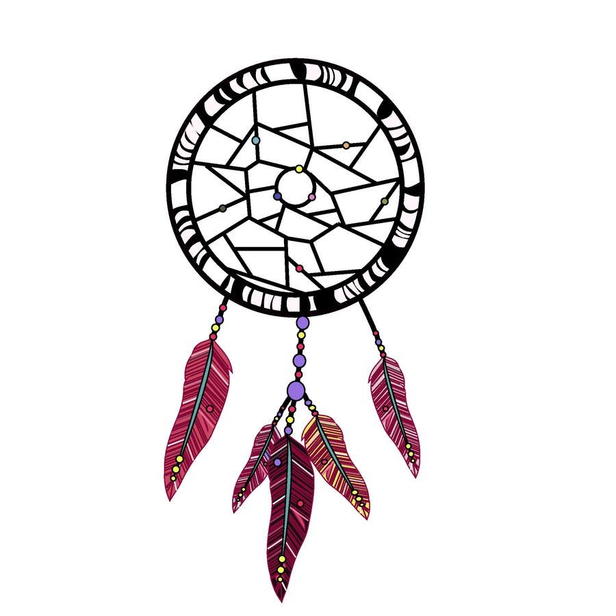 Graphic design dreamcatcher air freshener paper 1 for Dream catcher graphic