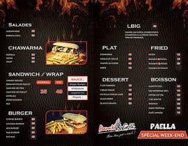 nº 8 pour creation de menu et flyer pour un fast food par zinebzeno