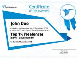 #16 cho Design Freelancer.com's new Achievement Certificate bởi Cozmonator