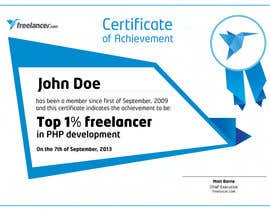 #20 for Design Freelancer.com's new Achievement Certificate by Cozmonator