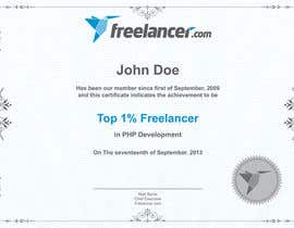#18 cho Design Freelancer.com's new Achievement Certificate bởi hanialhoussien