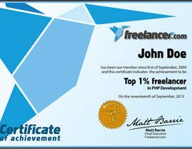 #25 cho Design Freelancer.com's new Achievement Certificate bởi Kusmin