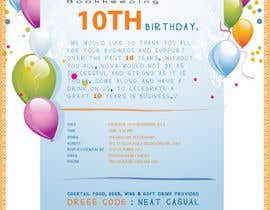 #1 for Business 10th Birthday Invitation af dannnnny85
